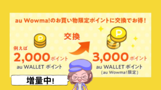 wowma50%アップ